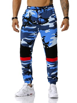 Ericdress Camouflage Print Pencil Pants Casual Mid Waist Casual Men's Pants