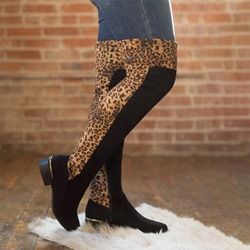 Ericdress Patchwork Slip-On Round Toe Casual Boots