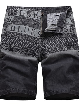 Ericdress Straight Print Letter Casual Men's Shorts