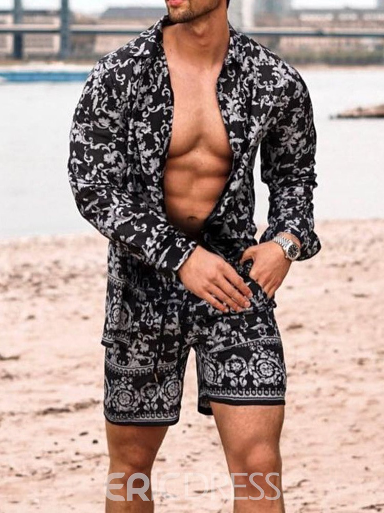 Ericdress Print Pants Casual Men's Summer Outfit