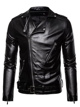 Ericdress Plain Lapel Standard Winter European Leather Women's Jacket