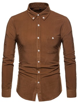 Ericdress Casual Lapel Plain Fall Single-Breasted Shirt