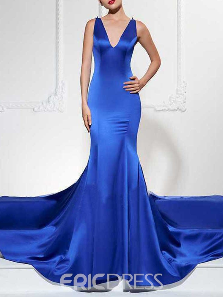 Ericdress V-Neck Sleeveless Floor-Length Elegant Women's Dress