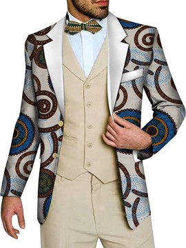 Ericdress Slim Print Casual Men's Leisure Blazer