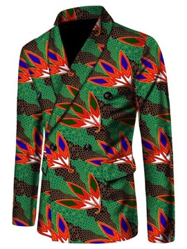 Ericdress African Ethnic Style Double-Breasted Men's Slim Leisure Blazer