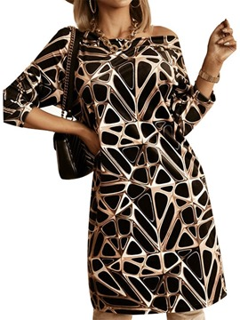 ericdress col rond manches longues au dessus du genou robe pull