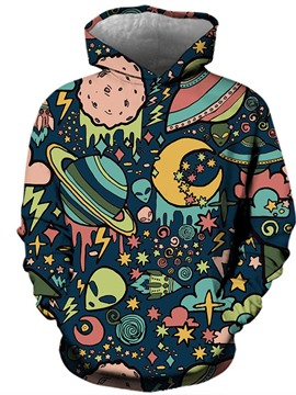 Ericdress Print Pullover Men's Hoodies