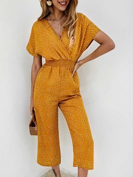 Ericdress Sweet Polka Dots Ankle Length Loose Mid Waist Women's Jumpsuit