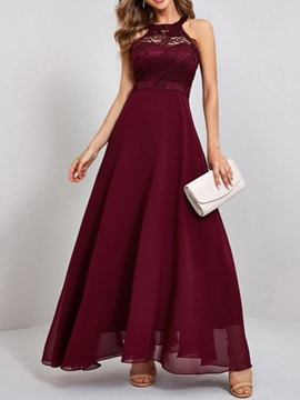 Ericdress Floor-Length Round Neck Sleeveless Dress Expansion Women's Dress
