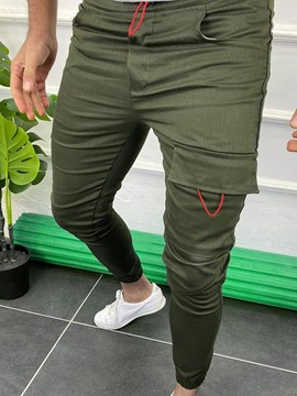 Ericdress Pocket Pencil Pants Plain Summer Mid Waist Men's Casual Pants