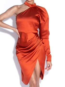 Ericdress Split Long Sleeve Knee-Length Plain Women's Bodycon Dress