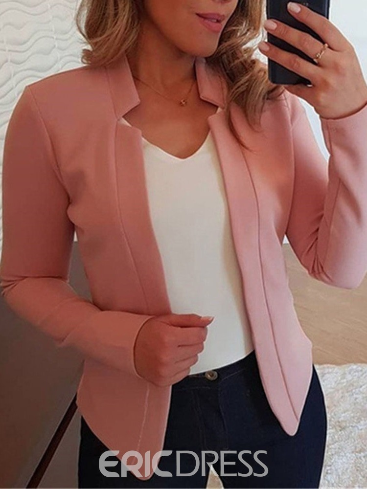 Ericdress Long Sleeve Notched Lapel Wrapped Standard Fall Casual Women's Blazer