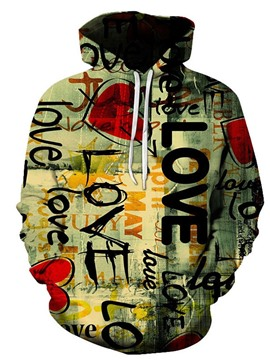 Ericdress Men's Print Letter Casual Pullover Hoodies