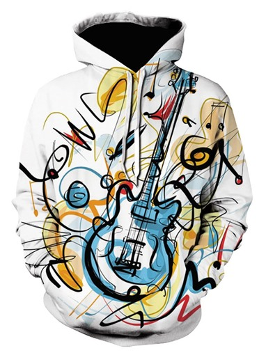 Ericdress Pullover Print Spring Men's Slim Hoodies