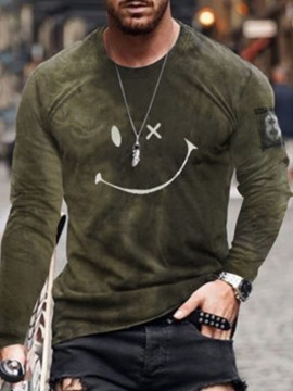 Ericdress Print Casual Round Neck Pullover Men's Long Sleeve T-shirt
