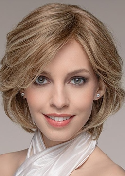 Ericdress Natural Looking Women's Short Layered Wavy Hairstyle Human Hair Capless Wigs 12Inch