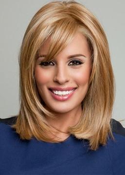 Ericdress Women's Medium Bob Hairstyles Blonde Color Straight Human Hair Capless Wigs 14Inch