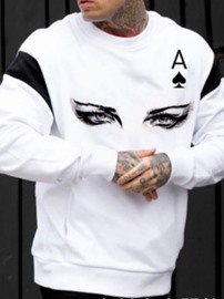 Ericdress Pullover Print Letter Pullover Casual Men's Hoodies