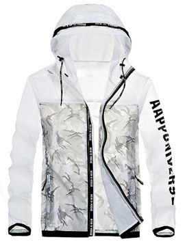 Ericdress Thin Camouflage Hooded Casual Men's Jacket