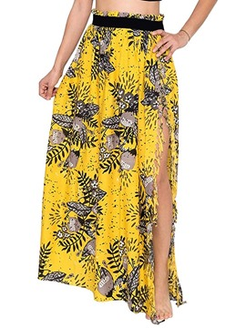 Ericdress Floor-Length A-Line Floral Western Women's Skirt