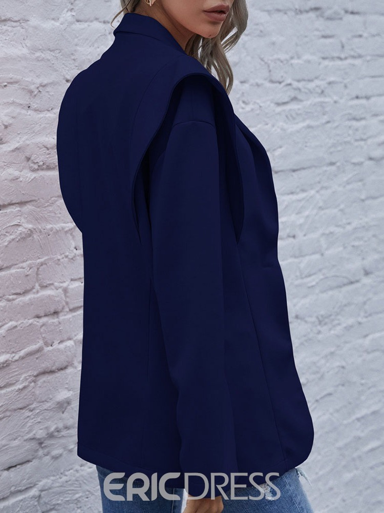 Ericdress Plain One Button Notched Lapel Fall Mid-Length Casual Women's Blazer