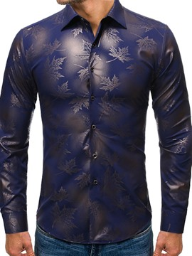 Ericdress Floral Print Lapel Single-Breasted Spring Men's Shirt