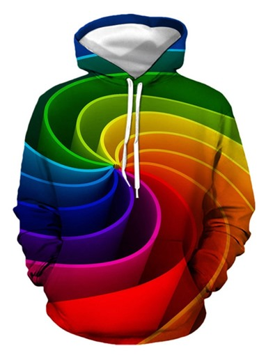 Ericdress Gradient Pullover Fall European Men's Hoodies
