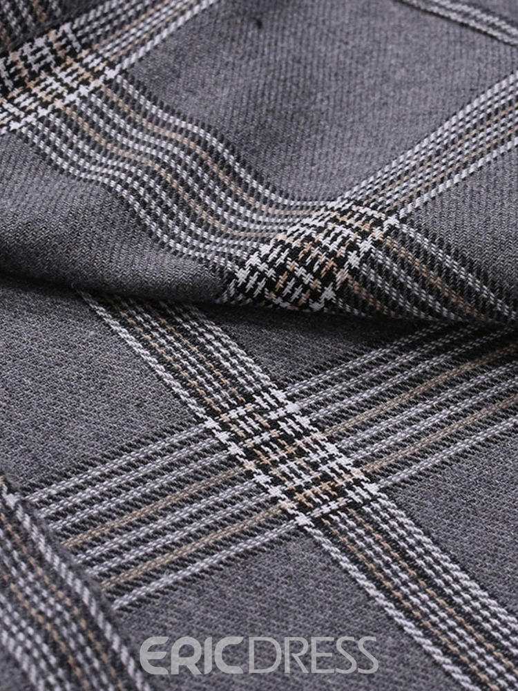 Ericdress Casual Pocket Plaid Single-Breasted Spring Men's Shirt