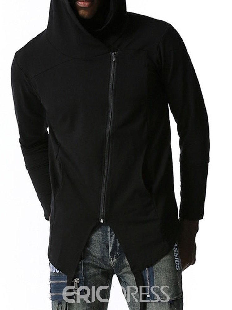 Ericdress Plain Cardigan Men's Slim Hoodies