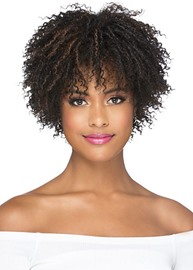 Ericdress Short Afro Curly Hairstyle Women's Kinky Culry Synthetic Hair Capless Wigs 12inch