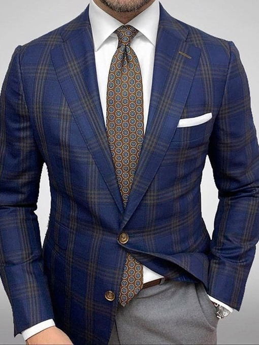 Ericdress Single-Breasted Notched Lapel Slim Leisure Blazer