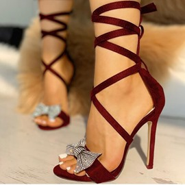 Ericdress Open Toe Lace-Up Stiletto Heel Banquet Sandals