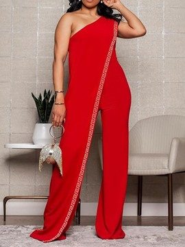 Ericdress Color Block Full Length Western Women's Slim High Waist Jumpsuit