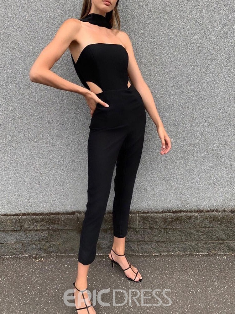 Ericdress Western Ankle Length Backless High Waist Skinny Women's Jumpsuit