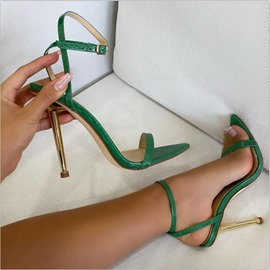 Ericdress Peep Toe Buckle Stiletto Heel Professional Sandals