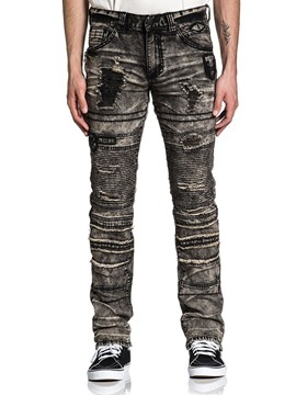 Ericdress Worn Straight Zipper Casual Men's Jeans