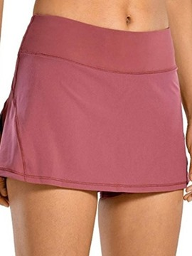 Ericdress Plain Patchwork Women's Slim Shorts