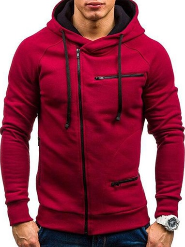 Ericdress Cardigan Zipper Men's Spring Hoodies