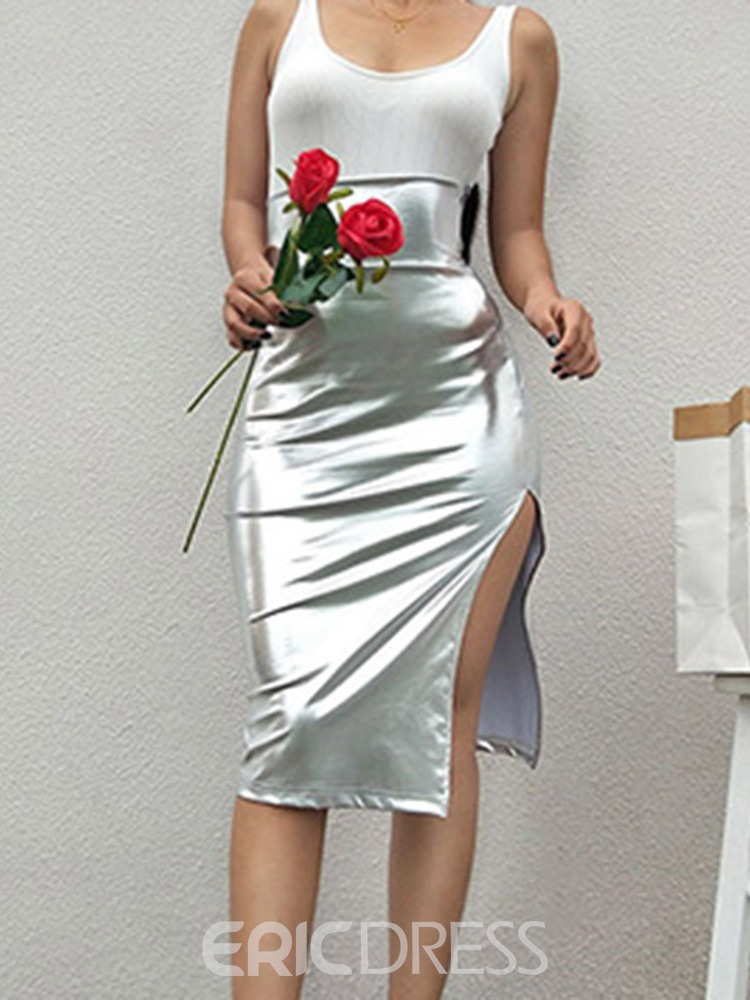 Ericdress A-Line Split Knee-Length Fashion Women's Skirt
