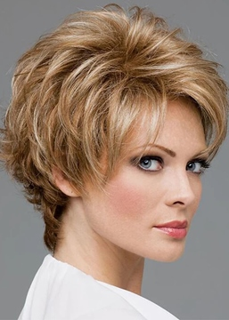 Ericdress Women's Short Shaggy Hairstyles Straight Synthetic Hair Capless Wigs 8Inch