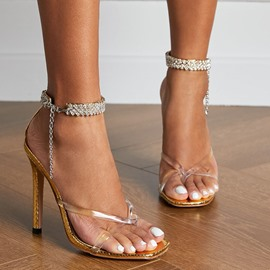 Ericdress Stiletto Heel Thong Line-Style Buckle Western Sandals
