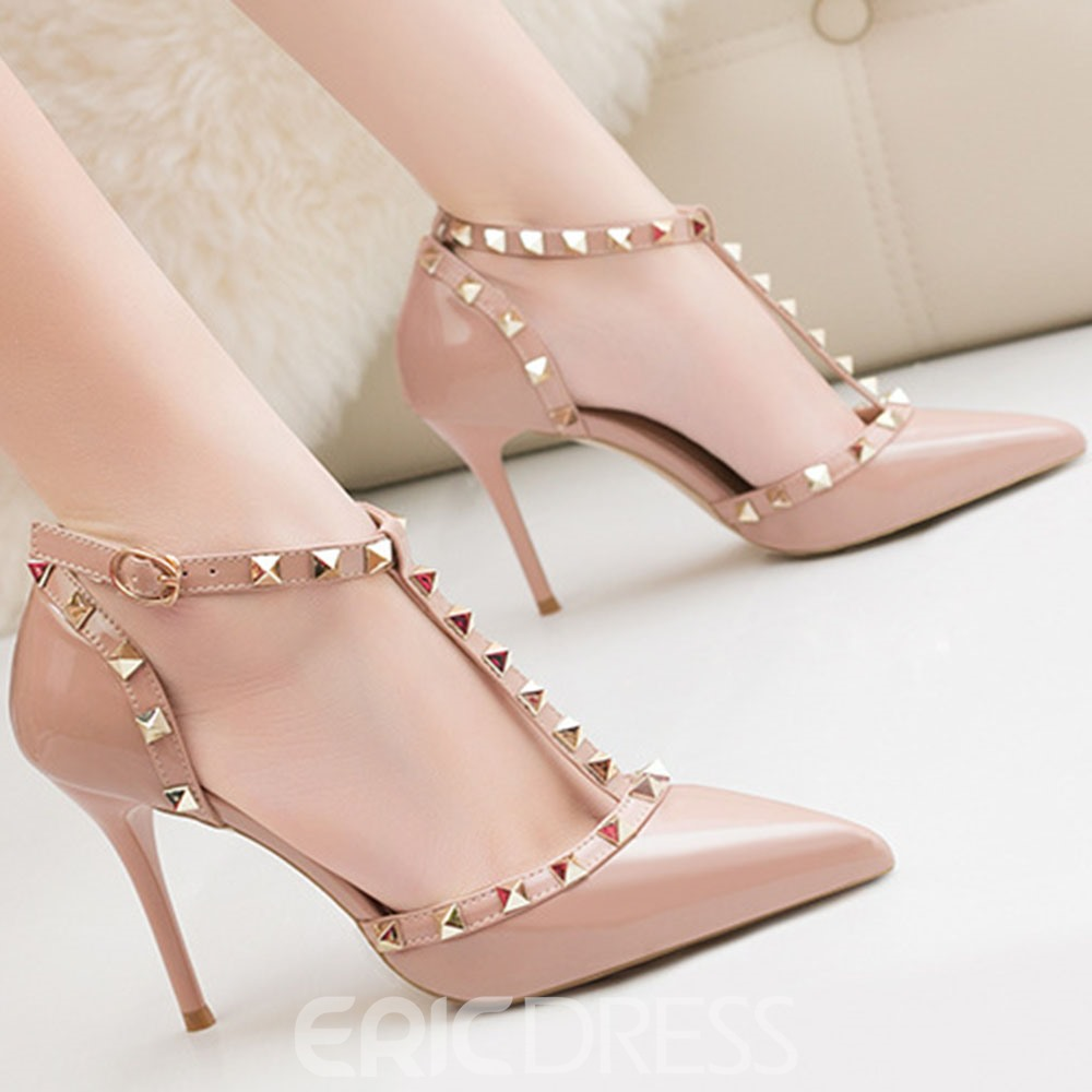 Ericdress Stiletto Heel Pointed Toe Heel Covering Western Sandals