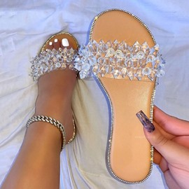 Ericdress Flat With Slip-On Flip Flop Rubber Slippers