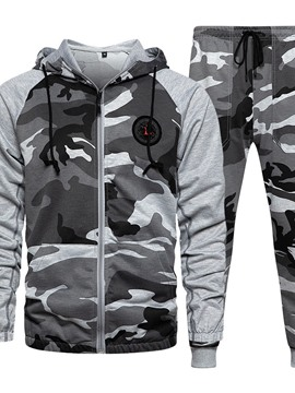 Ericdress Print Casual Camouflage Men's Spring Outfit