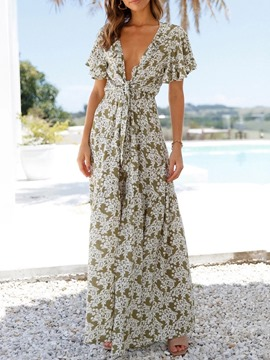Ericdress Fashion Floral Full Length High Waist Loose Women's Jumpsuit