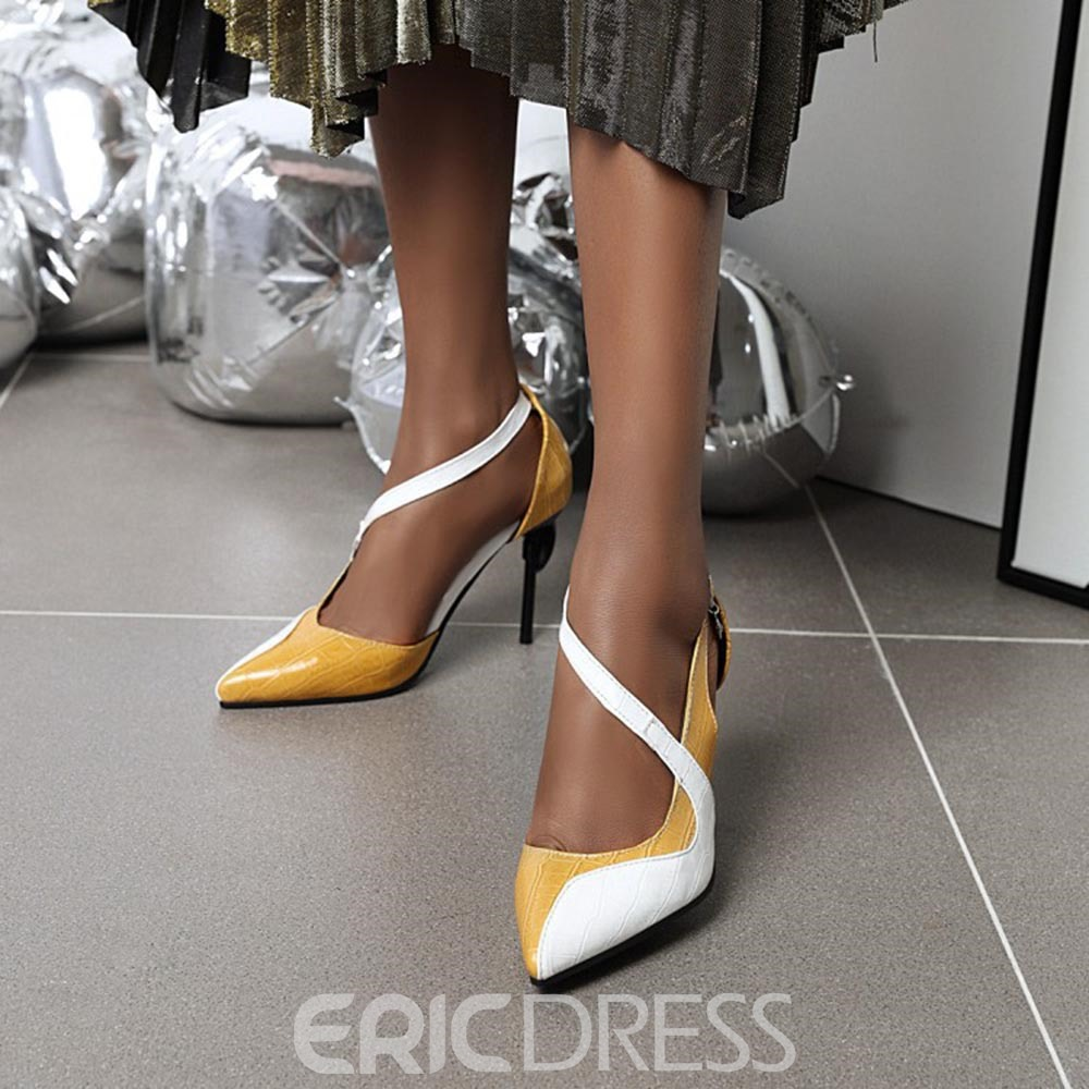 Ericdress Buckle Stiletto Heel Buckle 9cm Thin Shoes