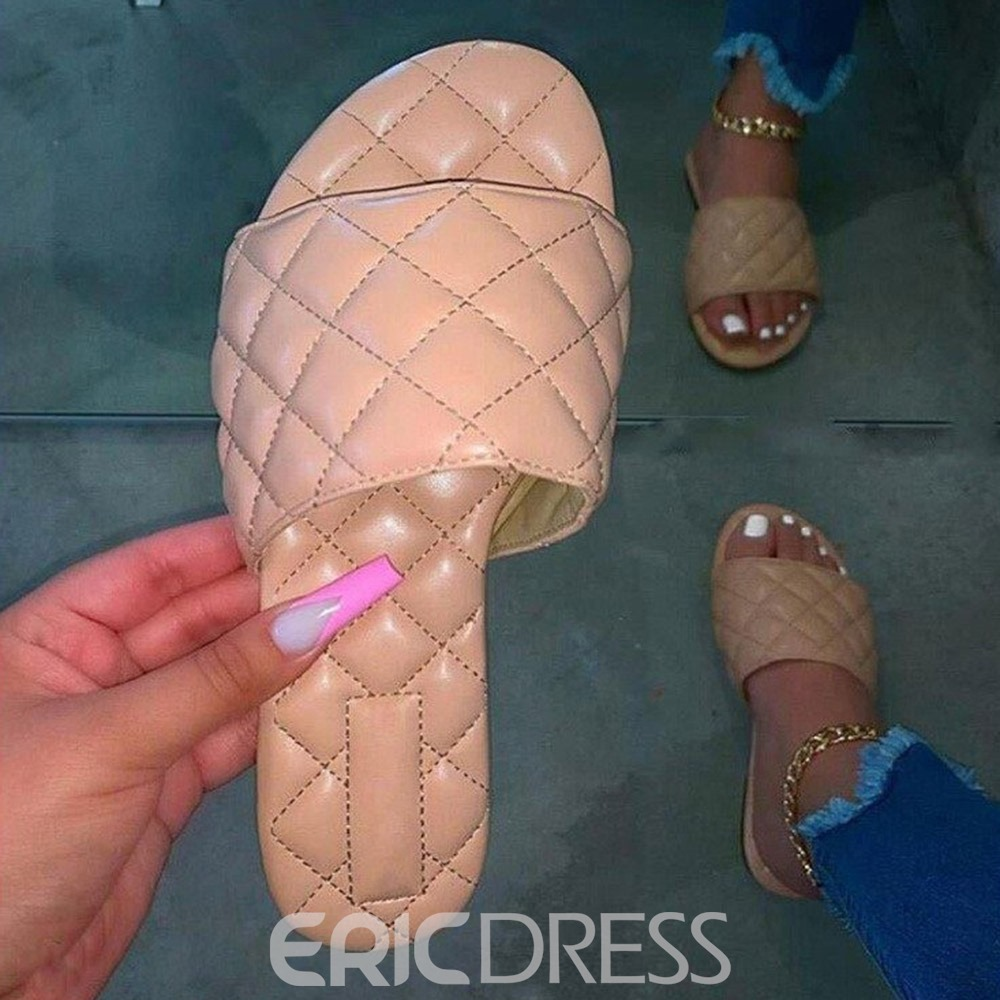 Ericdress Toe Ring Flat With Slip-On Summer Slippers