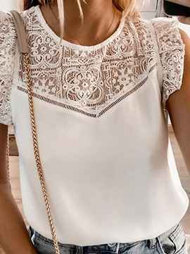 ericdress Polyester hohl Sommer Standard Tank Top