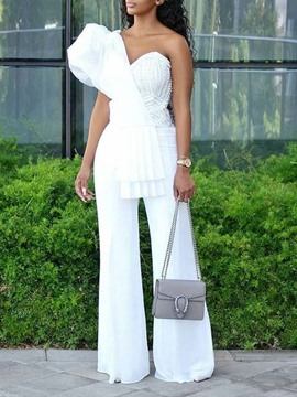 Ericdress Full Length Western Asymmetric High Waist Slim Jumpsuit