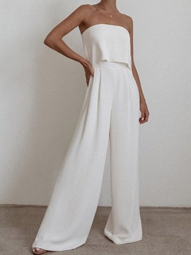 Ericdress Pants Patchwork Western Off Shoulder Wide Legs Women's Two Piece Sets